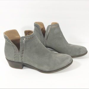 Lucky Brand grey suede ankle boots size 9.5